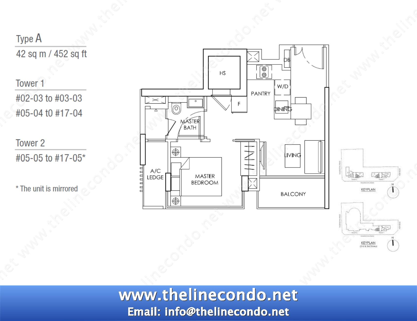 1 Bedroom Floor Plan Singapore The Line Tanjong Rhu Condo
